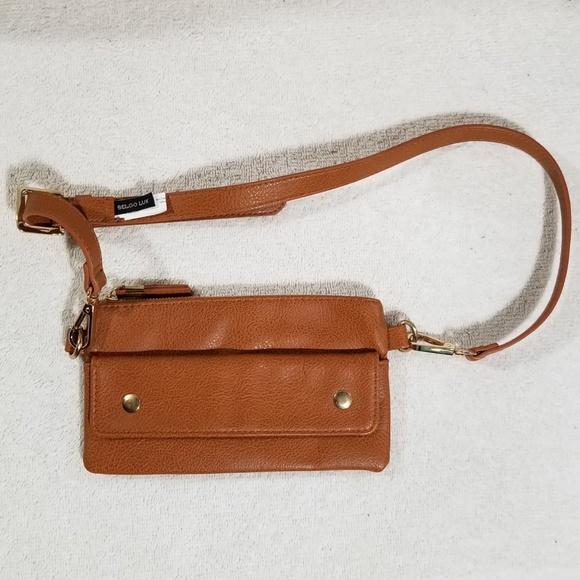Belgo Lux Handbags - Belgo Lux tan belt bag perfect for phone